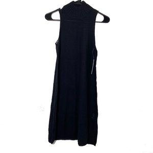 NEW LAmade Black Knit Sleeveless Turtleneck Dress